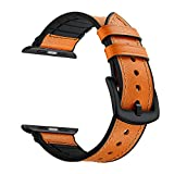 Cinturino di ricambio per cinturino in pelle di vitello Zeiger con cinturino in pelle per IWatch Series 1, Series 2, Series 3 Sport e versioni 2015 Edizione 2016 2017 (42 mm marrone)