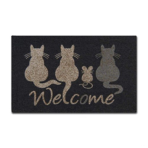 Shinewe Custom zerbino d' Ingresso Interno/Esterno Tappetino Cat Welcome zerbino Soggiorno Cucina...