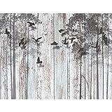 Tapisserie Photo Regard de bois abstrait 396 x 280 cm Laine papier peint Salon Chambre Bureau Couloir décoration Peinture murale décor mural moderne - 100% FABRIQUÉ EN ALLEMAGNE - 9104012a
