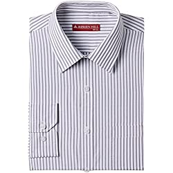Auburn Hill Men's Formal Shirt (8907002746467_254725731_40_Black)