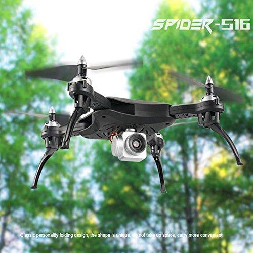 Hanbaili Drone pieghevole S16 aggiornato con telecamera WIFI grandangolare HD 120 ° Trasmissione in...