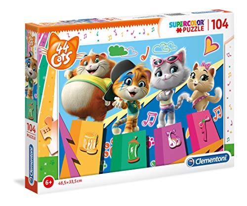 Clementoni Supercolor Puzzle-44 Gatti-104 Pezzi, Multicolore, 27271
