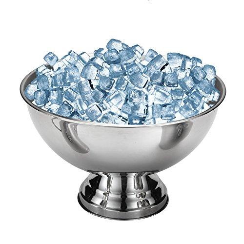 Secchio di ghiaccio,Bloomma Secchiello per il ghiaccio Smooth Bar in acciaio inox,Secchio di forma a coppa a grande capacità per la conservazione all'aperto di campeggio per feste Vino di raffreddamento,Bevande,Whisky