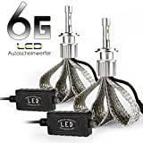 Afterpartz Autoscheinwerfer Umrüstkit, 2 6 Gen. Auto LED Headlight Bulbs 60W 9000LM 6000K, H8 H9 H11