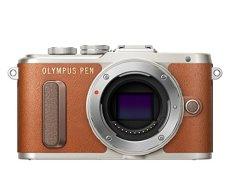 """Olympus PEN E-PL8 - Cámara EVIL de 16 MP (pantalla táctil abatible de 3"""", estabilizador, vídeo FullHD, WiFi), marrón - solo cuerpo"""