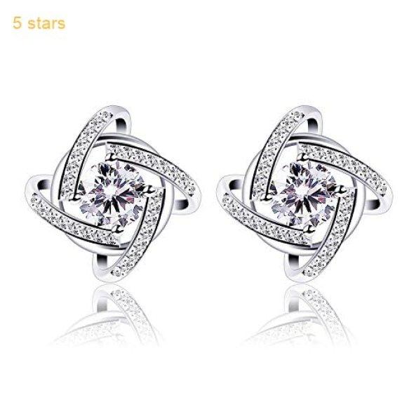 fb2dda216 B.Catcher Stud Earrings Windmill Shape Cubic Zirconia 925 Sterling Silver  Earrings