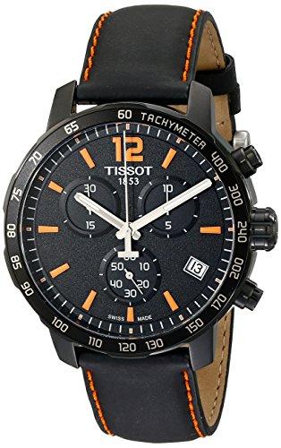 Tissot Orologio Analogico-Digitale cronometro Uomo con Cinturino in Pelle T095.417.36.057.00