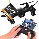 FADER Drone con videocamera HD - App Live View – Mantenimento dell'altitudine - Quadricottero FPV - Mini Drone con Wi-Fi e Telecomando Joystick