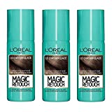 L'Oréal Paris Magic Retouch Spray Retouche Racine Instantané le Châtain Glacé 75 ml - Lot de 3