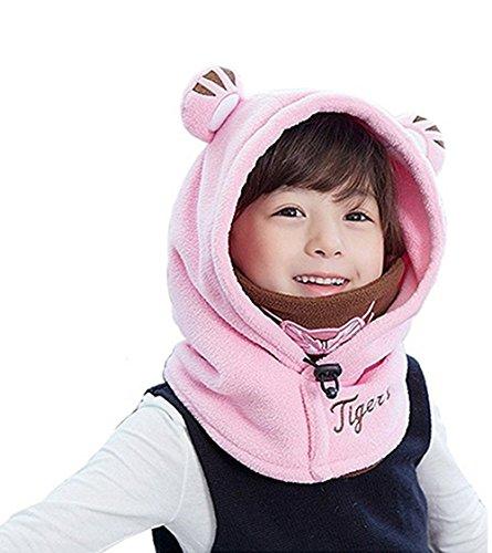 Yezelend Cagoule bébé Enfant Bonnet Cache Oreilles Cou Chapeau Hiver ... b0016e6ab11
