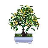 Gespout Simulación Planta Verde en Maceta Luo Hanhua Planta del Desierto Bonsai Conjunto Falso Planta en Maceta Adornos de Escritorio