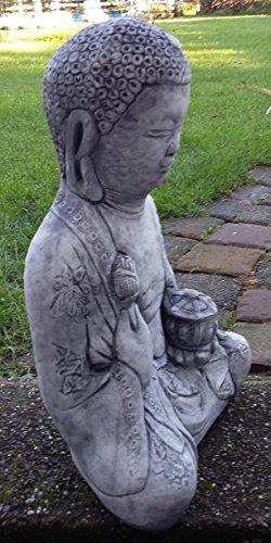 Buda Oferta Especial 21kg pesado de piedra Figura Buda muy bien ausgearbeitet, resistente a heladas hasta -30°C, piedra fundido macizo pensar en Navidad. 5