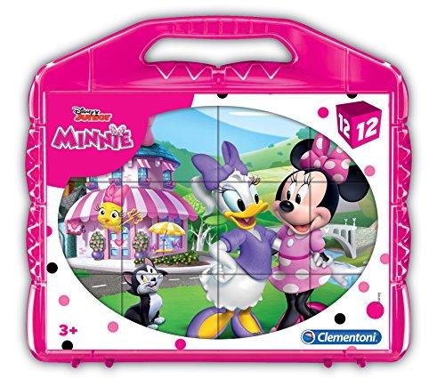 Clementoni - 41184 - Puzzle Cubi - Minnie Happy Helpers - 12 Cubi - Disney