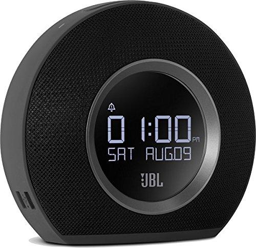 JBL Horizon BLK Radiosveglia FM Doppia, Wireless, Bluetooth con Ricarica Mediante Dock USB e Luce...