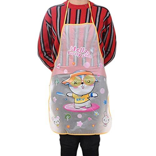 Sothread adulto donne cute Cartoon bavaglino grembiule da cucina trasparente impermeabile 70cm*50cm...