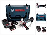 Bosch GWS 18 V-125 SC Professional Akku Winkelschleifer 125mm brushless in L-Boxx mit 2x GBA 6,0/6,3 Ah EneRacer Akku und GAL 1880 CV Ladegerät