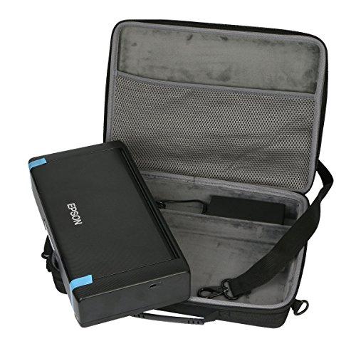 Hard custodia Borse Viaggio per Epson Workforce WF-100W Stampante Portatile Inkjet di co2CREA(travel...