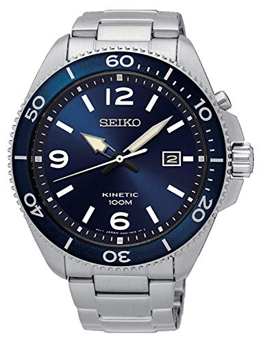 Seiko Orologio Analogico Kinetic Uomo con Cinturino in Acciaio Inox SKA745P1