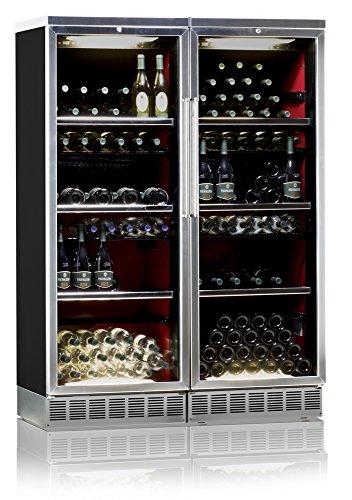 Ip Industrie - Cantina climatizzata inox con due ante in doppio vetro due celle capacità totale 224...
