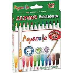 ROTULADOR ALPINO AQUARELLE 12 COLORES SURTIDOS