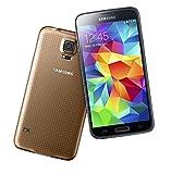 Samsung Galaxy S5 Smartphone (12,95 cm (5,1 Zoll) Touch-Display, 2,5 GHz Quad-Core Prozessor, 2 GB RAM, 16 Megapixel Kamera, Android 4.4) gold (Generalüberholt)