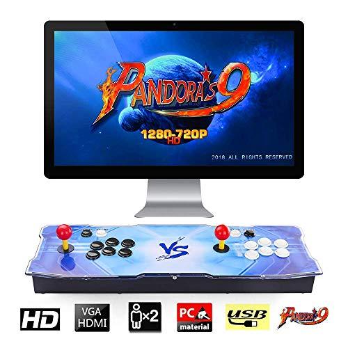 【Arcade Machine 1500 giochi classici】Real Pandora Box 9 2 giocatori Joystick Arcade Console con 1500 giochi arcade 1280 * 720 Full HD