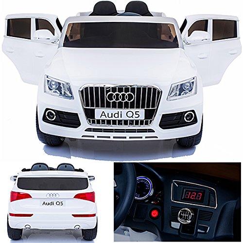 #simron Audi Q5 Quattro SUV Elektro Kinderauto Kinderfahrzeug Ride-On 12V Kinder Elektroauto -weiss-#