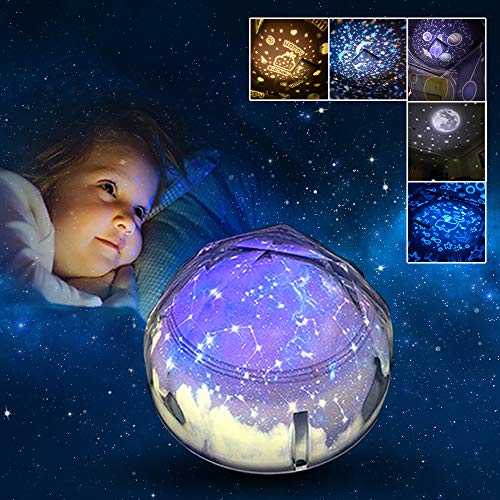 Regalo per Ragazze 2-8 Anni Joy-Jam Proiettore Stelle Luce Notturna per Bambini Lampada Notturna...