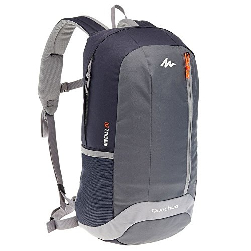 Quechua ARP 20 Hiking Backpack, 20 liters (Black/Grey)