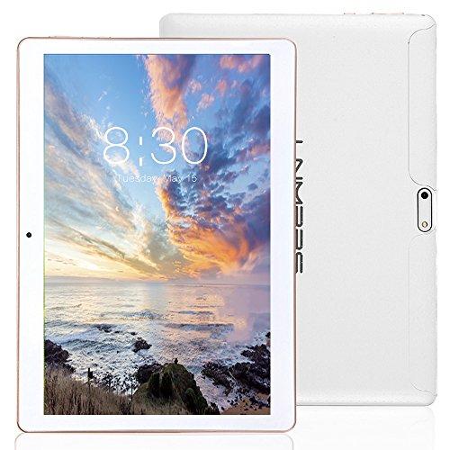 LNMBBS 3G Tablet de 10.1 Pulgadas HD (WiFi, 2 GB de RAM, 32GB de Memoria Interna, Quad-Core, Android 7.0), Color Blanco
