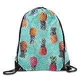 Yesliy Bolsa de piña para la playa con cordón para el océano, casual, a la moda, bonita mochila para la playa, bolsa para el hombro, bolsa de gimnasio, bolsa de deporte