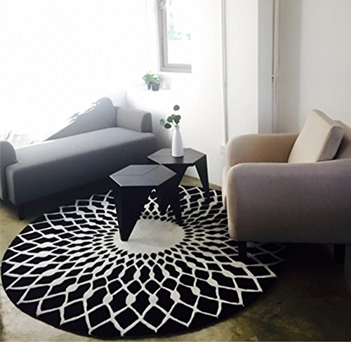LI LU SHOP Elegante vivere tutto l'ambiente tavolino in bianco e nero grande tappeto (dimensioni :...
