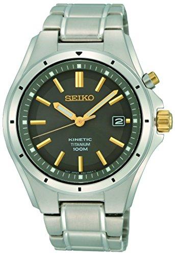 Seiko Orologio Analogico Kinetic Uomo con Cinturino in Acciaio Inox SKA765P1