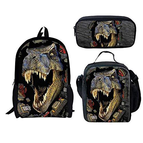 GHH Modello 3D del Dinosauro Bookbags, Sacchetto Casuale Dell'allievo Regolato per I Ragazzi...