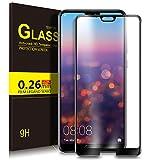 Huawei P20 Pro Protector de Pantalla, KuGi Full Coverage Cristal Vidrio Templado Film [9H Dureza] [Ultra HD] Screen Protector para Huawei P20 Pro(Negro)