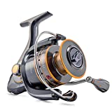 Supertrip TM Fishing Reels Stainless Steel Spinning Reel Strong Corrosion Resistance Metal Saltwater Fishing Reel Size 4000