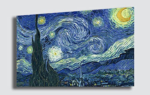 Quadro Notte stellata VINCENT VAN GOGH - RIPRODUZIONE STAMPA SU TELA Quadri Moderni Arte Moderno...