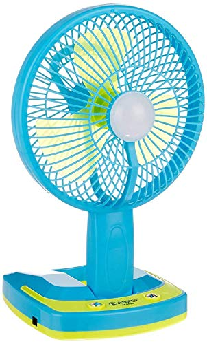 REBORN 5590 Powerful Folding Rechargeable Table Fan with 21SMD LED Lights, table fans for home, table fans, table fans for home with stand Assorted Color