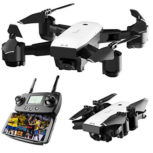 SCAML Drone con Fotocamera HD 1080p Fotocamera WiFi Rc Professionale Quadricottero Corpo Pieghevole...