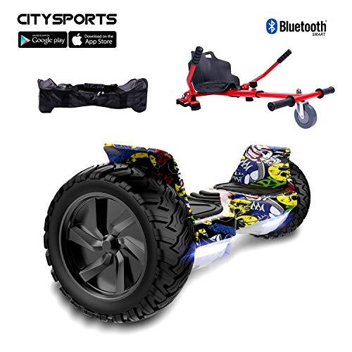 CITYSPORTS Hoverboard 8.5' Fuoristrada Hoverboard con Hoverkart Regolabile, Hoverboard Hummer SUV,...