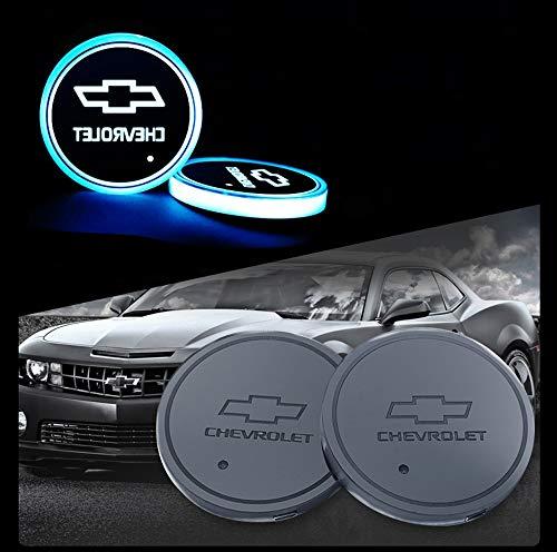 Interesting car Lot de 2 Lampes LED pour Porte-gobelet de Voiture 7 Couleurs changeantes USB Tapis de Charge Luminescent Tampon LED pour int... 28