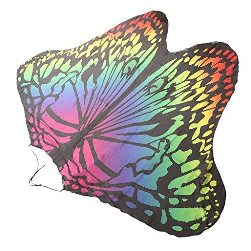 MagiDeal Tapicería Toalla de Playa Bikini Baño Estera de Yoga Mariposa Impresa Beachwear Decoración de Hogar de Poliéster - # 2