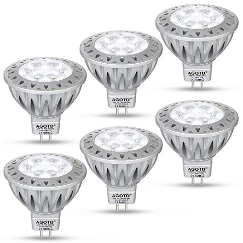 AGOTD Faretti Led GU5.3 Lampadina a Led MR16 12V 7W SMD Lampada, GU 5.3 Socket, Alluminio,...