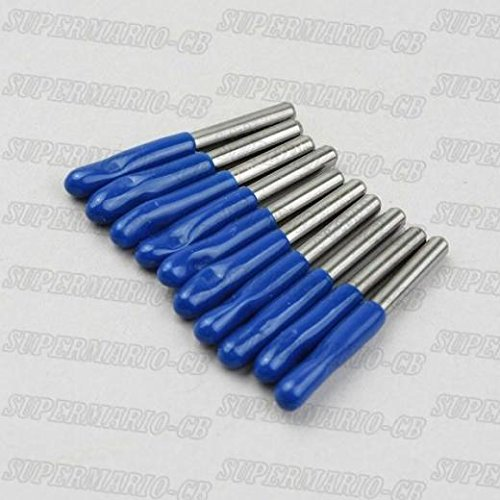 SHINA 10x 1/8'' High Quality Carbide PCB Engraving Bits CNC Router Tool 15° 0.3mm