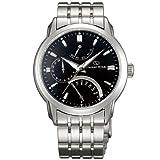 Orient DE00002B Men's Retrograde Automatic Black Dial Stainless Steel Power Reserve Watch