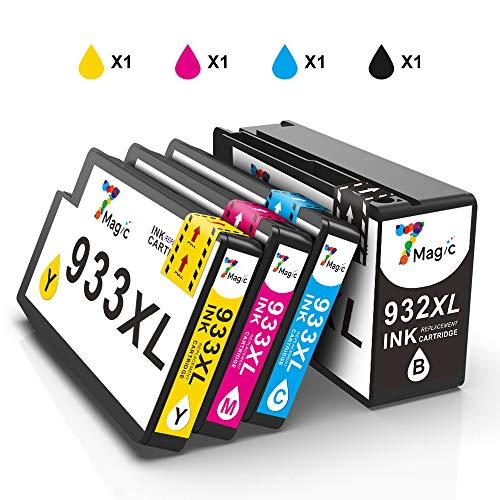 932XL 933XL 7Magic 932XL 933XL,Compatibile con HP 932XL 933XL 932 933 Cartucce d'inchiostro Alta...