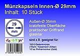 deaL-Toys 10 Münzkapseln 14-41mm - Münzdosen, Münzkapsel, Capsules, Coin Caps (29mm)