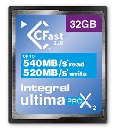 Tarjeta de memoria integral UltimaPro X2, 32GB, CFast 2,0