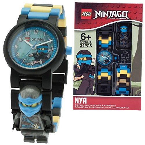 Sconosciuto LEGO Ninjago Hands of Time Nya Kinder-Wecker mit Minifigur und Hintergrundbeleuchtung