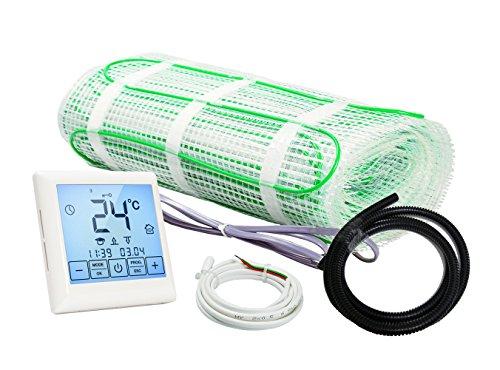 Komplett-Set elektrische Fußbodenheizung BZ-200 Touch/extra stark (4 m² - 0.5 m x 8 m)
